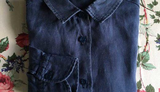 半年以上着用した手作りリネンシャツの消耗度