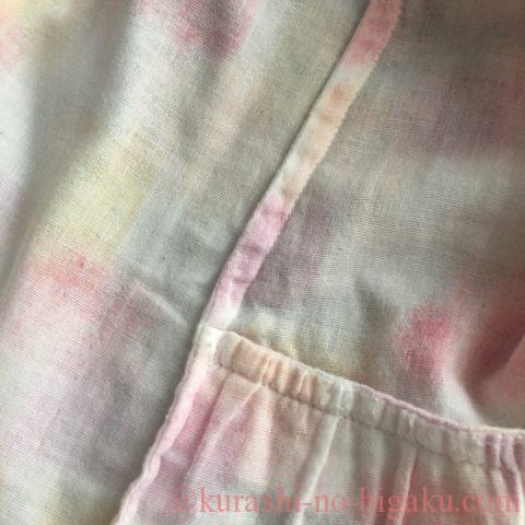折り伏せ縫いで仕立てたダブルガーゼのブラウス