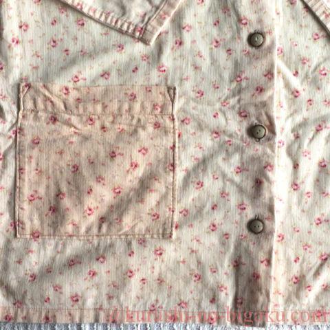 偏った色落ちの仕方をしているパジャマ