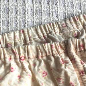 手作りパジャマのウエストゴム