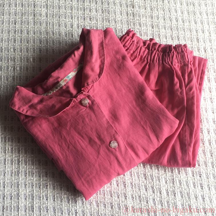 やさしいリネンで作った手作りパジャマ