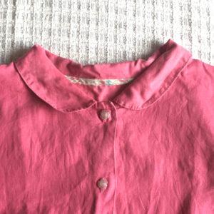 手作りしたリネンのパジャマ