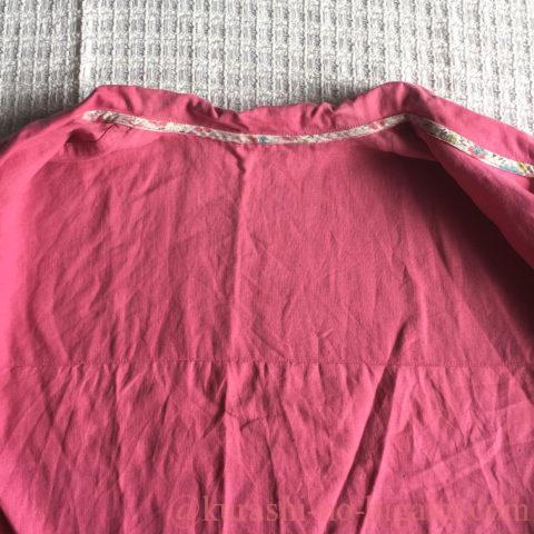 アレンジで背当てを追加した手作りパジャマ