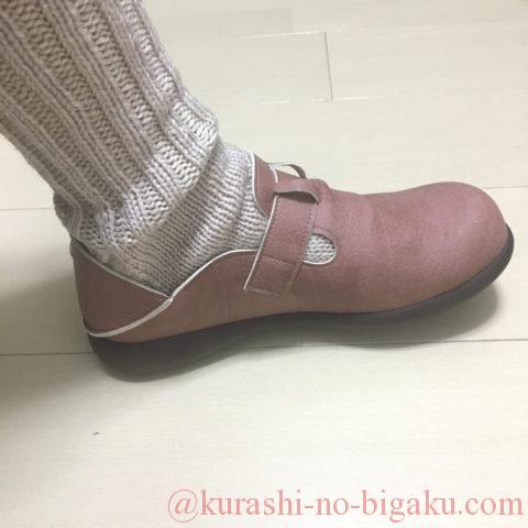 靴下を履くと丁度良いサイズ感