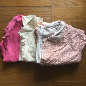 所有している3種類のパジャマ