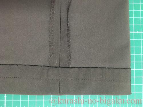 手抜きの裾のまつり縫い