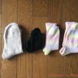 履きこんだ手編みの靴下の紹介