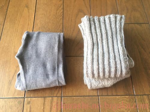 ファルケのタイツと手編みのロング丈の靴下