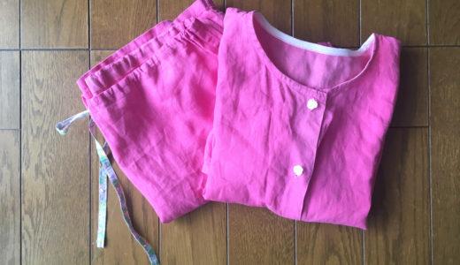 古い手作りパジャマを補修!いつまで着られる?リネンは丈夫で長持ちね!